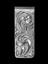 Vogt Classic Hand Engraved Sterling Money Clip 021-002