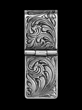 Black Hills Hand Engraved Sterling Money Clip 021-003