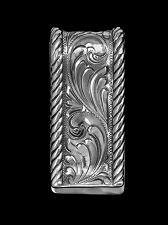 Badlands Embossed Reata Hand Engraved Money Clip 021-007