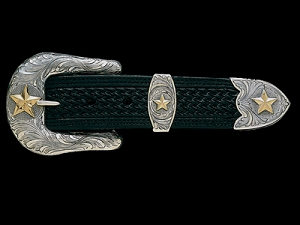 Pecos Gold Star Western Buckle Set 061-091