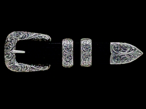 Sculpted New Yorker Buckle Set 071-291-5