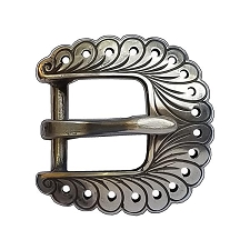 White Bronze Buckle 120418