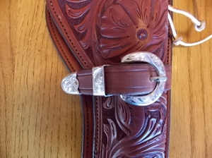 Abilene sterling overlay buckle set 2f16c