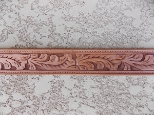 Hand carved Leaf Waist Belt WB22