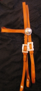 Silver Mounted Horse Headstall BA10S