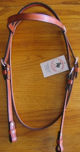 Lined Brow band Horse Headstall BA7D