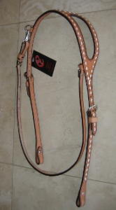 Buck stitched Shaped Ear Horse Headstall BE23BSR