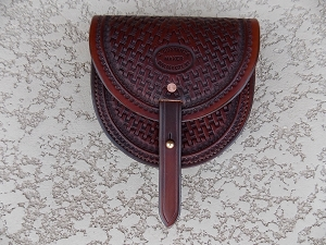 Basket Stamped Belt Pouch, large BP112