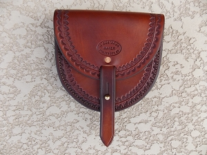 Border stamped Belt Pouch, large BP113