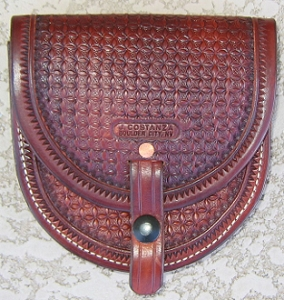 Geometric stamped Belt Pouch, large BP114