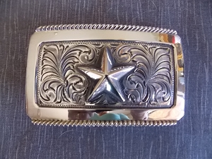 Texas Star Trophy Belt Buckle TSBK