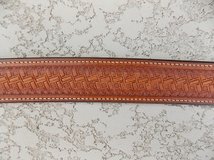 Basket stamp tapered waist belt