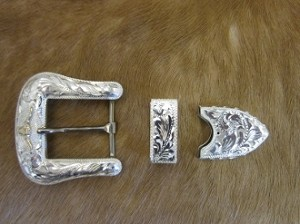 Longhorn Sterling Silver Buckle Set 00BD1SH