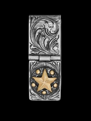 Ranger Badge Hand Engraved Sterling Money Clip 021-049