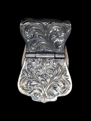 Regalman Hand Engraved Sterling Money Clip 021-400