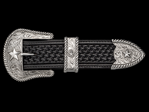 Tombstone Star Rope Edged Western Buckle Set 061-012