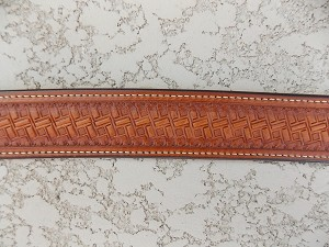 Tapered Basket stamped waist belt